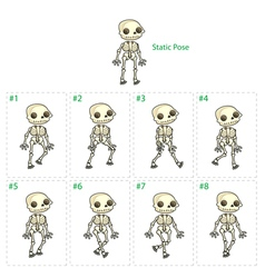 Animation of skeleton walking vector