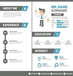 Smart creative resume business profile cv vitae vector