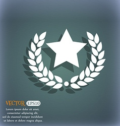 Star award icon on the blue-green abstract vector