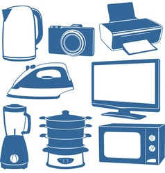 Electrical appliances vector image