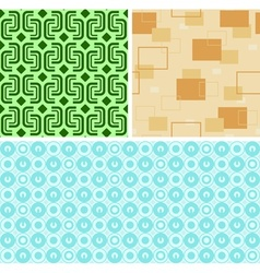 Seamless retro patterns vector