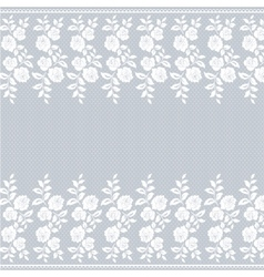 Lace border on gray vector image