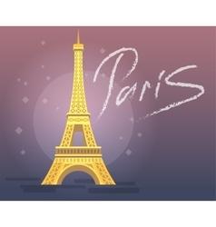 Paris eiffel tower icon vector