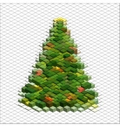 Abstract 3d christmas tree vector image