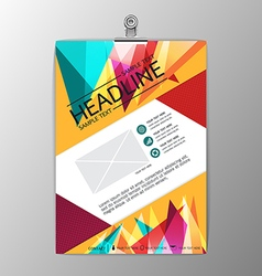 Abstract modern background triangle design vector image