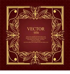 al 0721 frame 02 vector image vector image