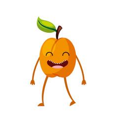 Apple fresh fruit kawaii character vector