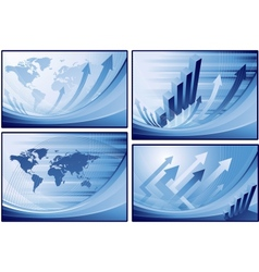 blue finance business background vector image