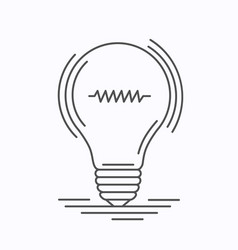bulb idea of the lines vector image vector image
