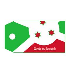 burundi flag on price tag vector image