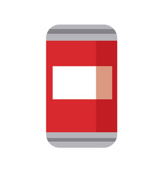 can of soda beverage cold refreshment vector image vector image