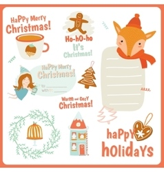 Cute cards notes stickers labels tags vector
