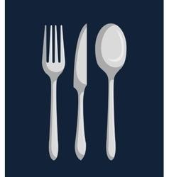 cutlery set design vector image vector image