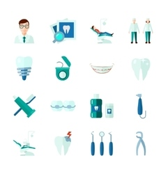 Dental icons set vector