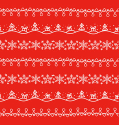 Different doodle christmas decor seamless vector