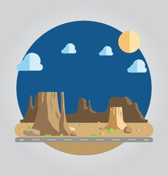 Flat design western desert vector
