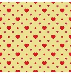 Heart and circle seamless pattern vector image vector image