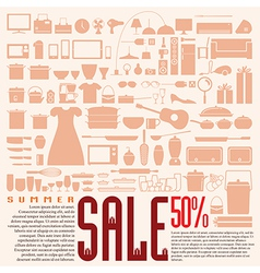 Home product 50 discount for summer sale vector
