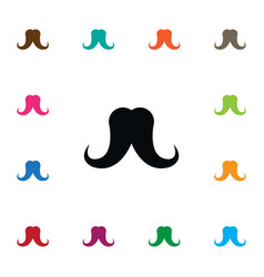 isolated grooming icon mustache element vector image vector image