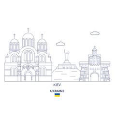 kiev city skyline vector image
