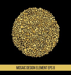 Mosaic golden ball vector