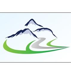 Mountain logo 6 vector