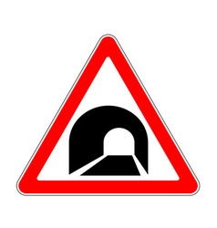 Road sign warning vector image vector image