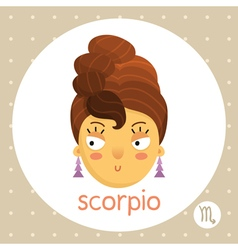 Scorpio zodiac sign girl with hair like scorpion vector image