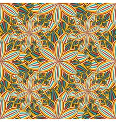 Seamless pattern with colorful flower vector