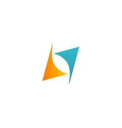 shape arrow circle balance logo vector image vector image
