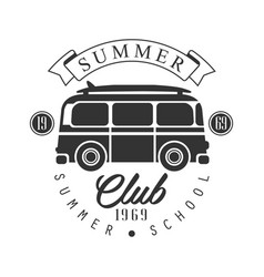 Summer club since 1965 summer school logo vector