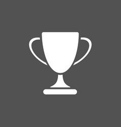 Trophy icon on black background vector