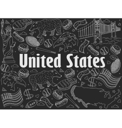 United states chalk vector