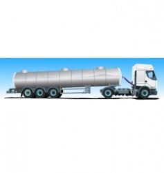 tanker semitrailer truck vector image