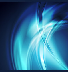 Dark blue smooth blurred abstract waves background vector
