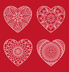 doodle heart card vector image