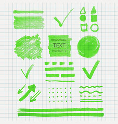 Transparent highlighter marks vector