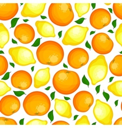Seamless pattern from lemons and oranges vector