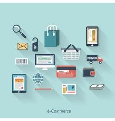 E-Commerce modern concept in flat design vector image