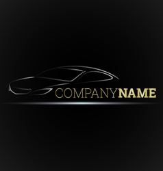 Car emblem for businesses vector