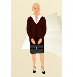 business women with case isolated vector image