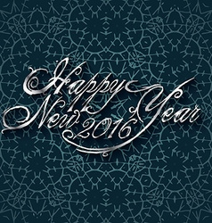 Beautiful elegant text design of happy new year vector