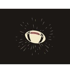 Vintage american football and rugby label emblem vector