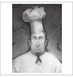 Halftone chef portrait vector image