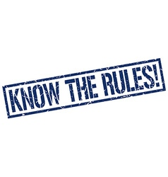 Know the rules stamp vector