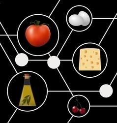 Abstract molecular gastronomy concept vector image vector image