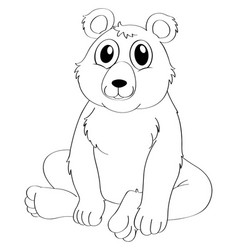 Animal outline for bear sitting vector