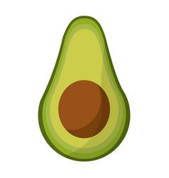 avocado harvest nutrition icon vector image vector image