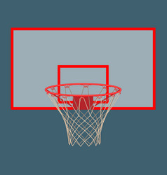 basketball hoop on backboard isolated on white vector image