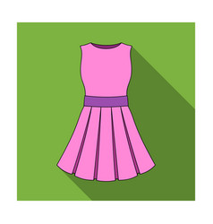 beautiful light pink summer dress without sleeves vector image vector image